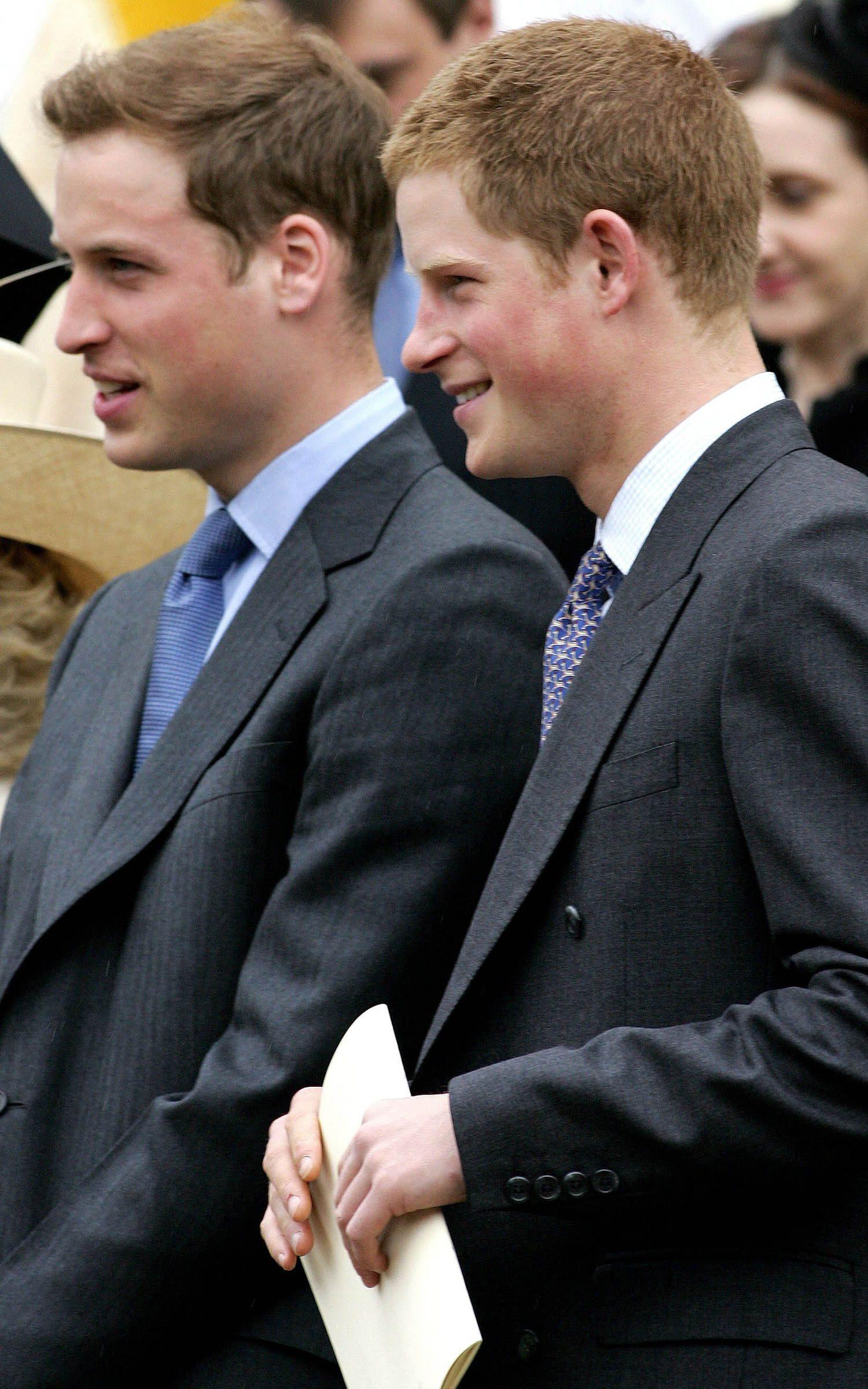 Famille royale : photo de William et Harry lors la célébration de l'anniversaire de leur grand-mère.