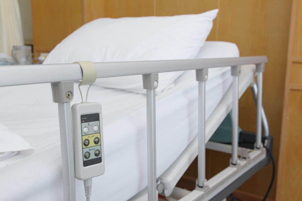 À l'hôpital, évitez de toucher les barrières de lits.