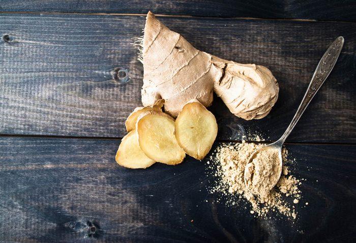 Pour maigrir avant les fêtes, favorisez la consommation de gingembre.