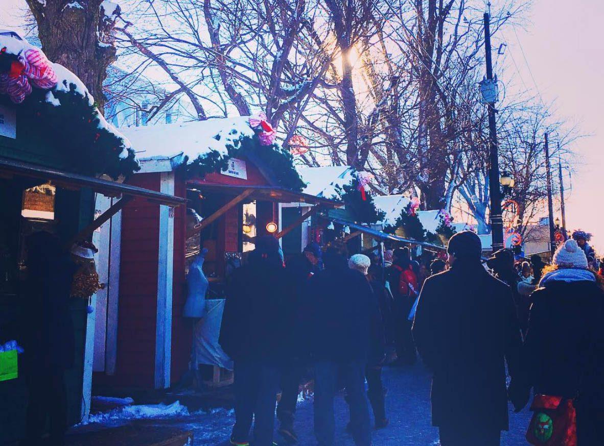 Marchés de Noël à visiter : marché de l'Assomption de Lanaudière.