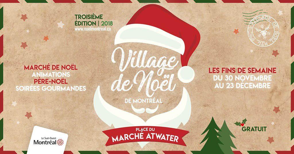 Marchés de Noël à visiter : le village de Montréal.