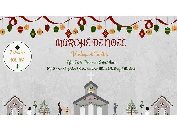 Marché de Noël vintage.