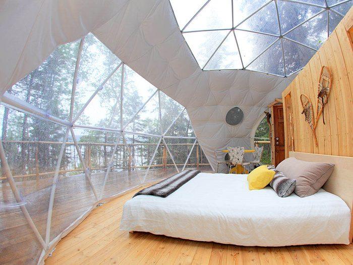Nuit au Québec : dormez dans une bulle.
