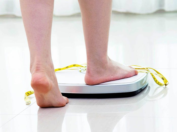 L'obésité se mesure grâce à l'IMC.