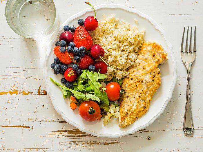 Contrôlez vos portions pour perdre du poids.