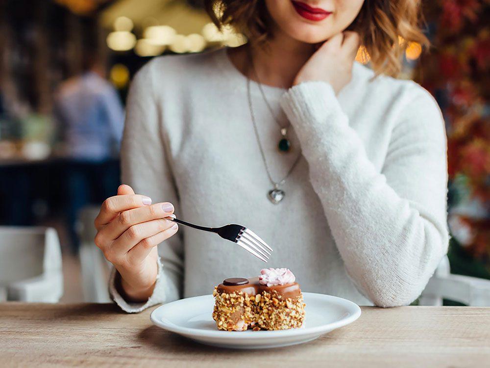 Une gâterie ne ruinera pas votre poids.