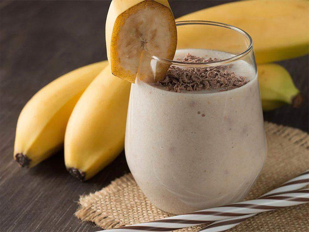 Essayez notre recette de smoothie d'hiver à la banane et aux épices.
