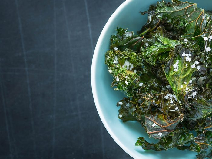 Recette de kale avec cuisson vapeur.