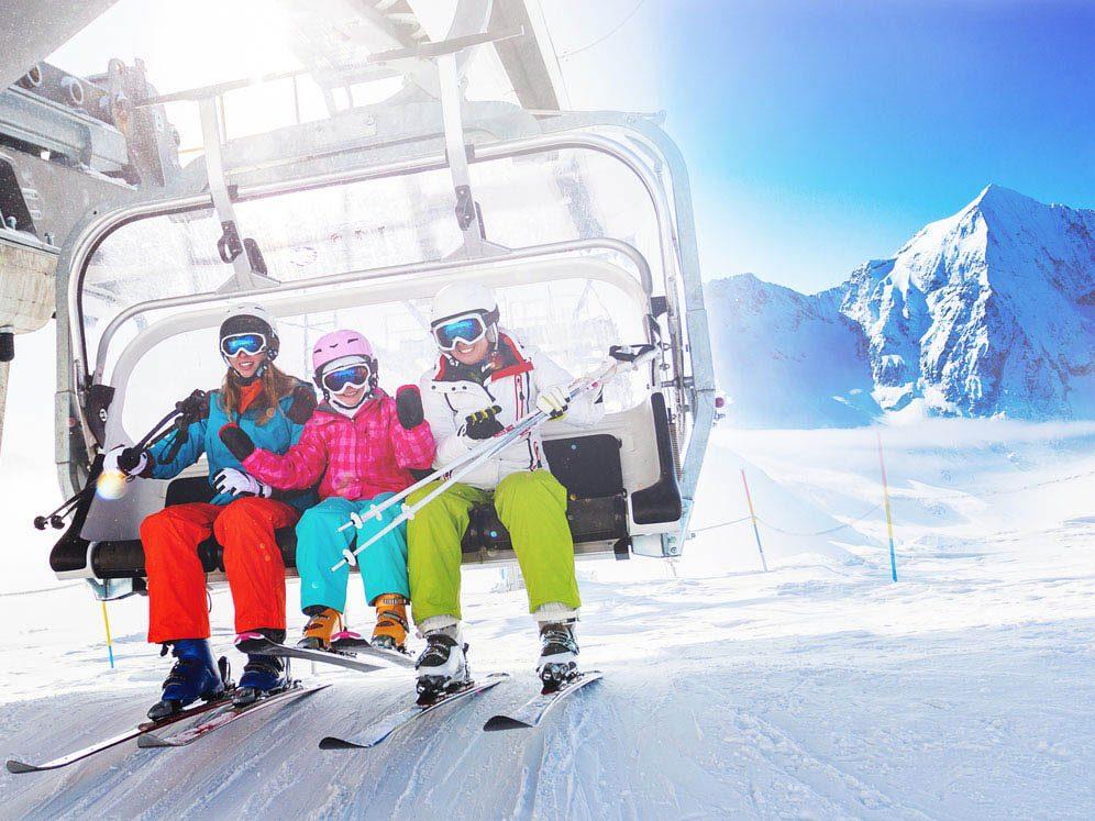 Le ski est une activité sociale.
