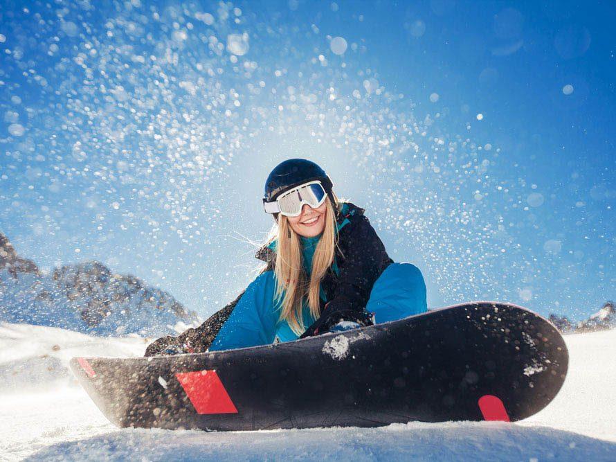 Le ski rend heureux.
