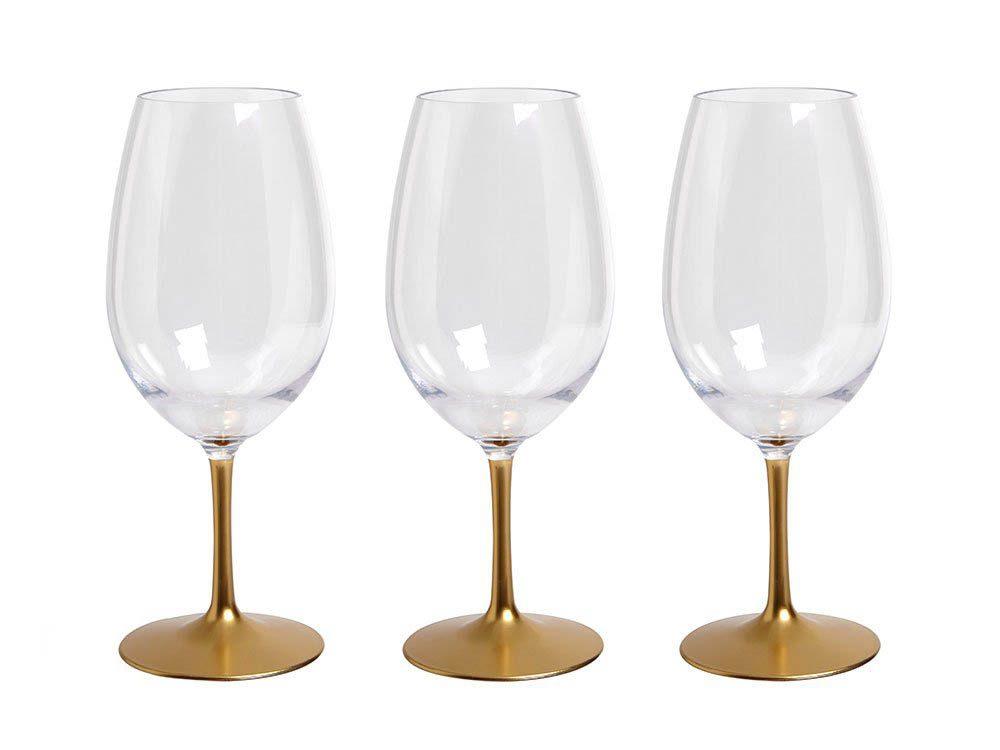 Cadeau de noël : des coupes à vin en acrylique