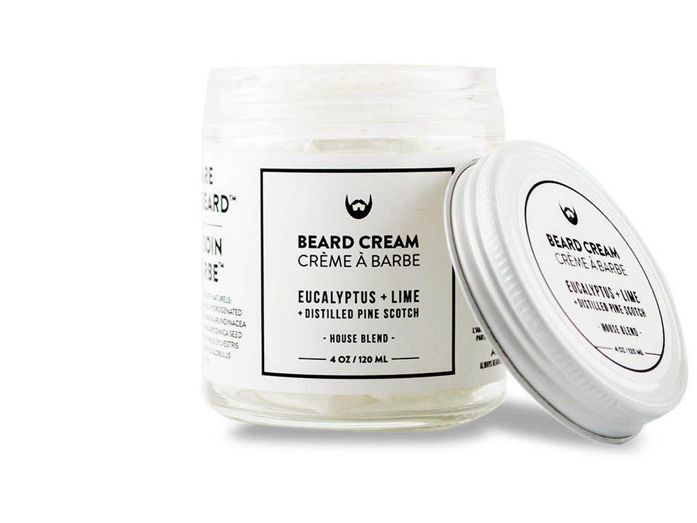Cadeau de noël : la crème à raser à l'eucalyptus, lime et pin et scotch distillé