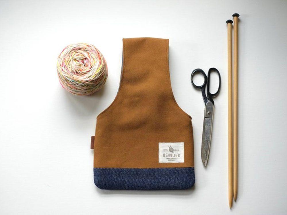 Idée cadeau: un sac à tricot.