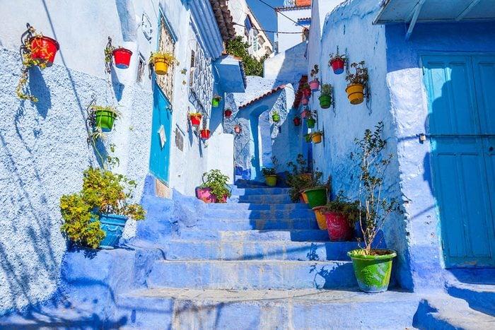Destination de voyage : Chefchaouen au Maroc.