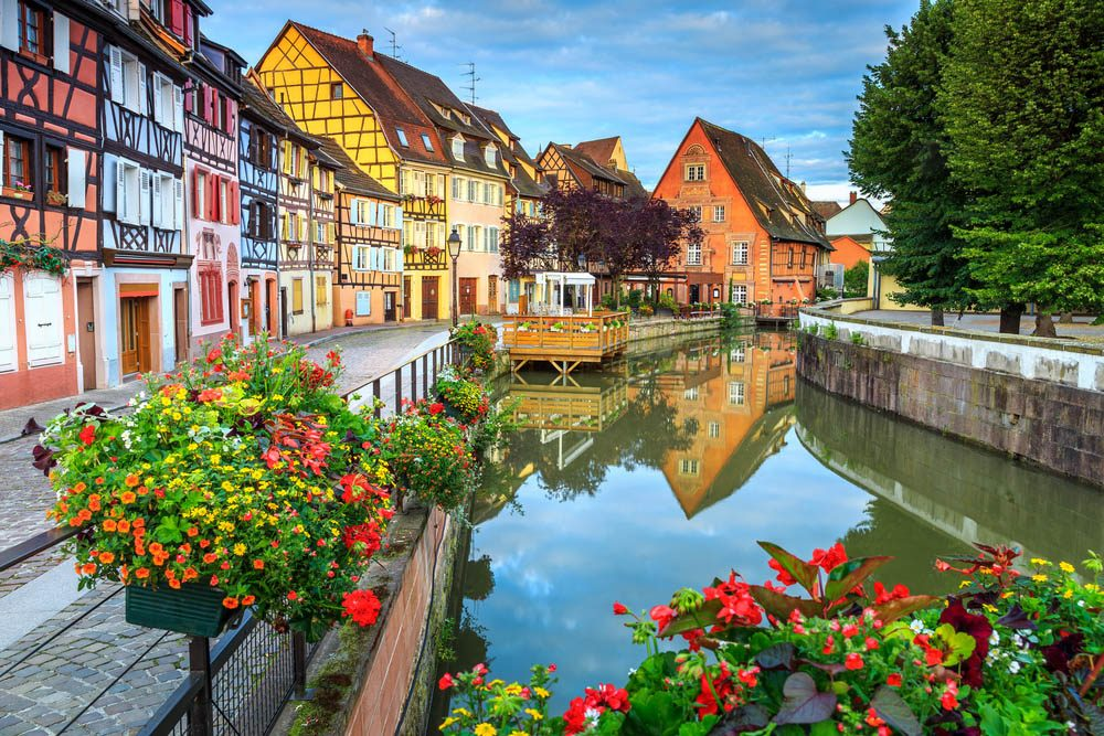 Destination de voyage : Colmar en France.