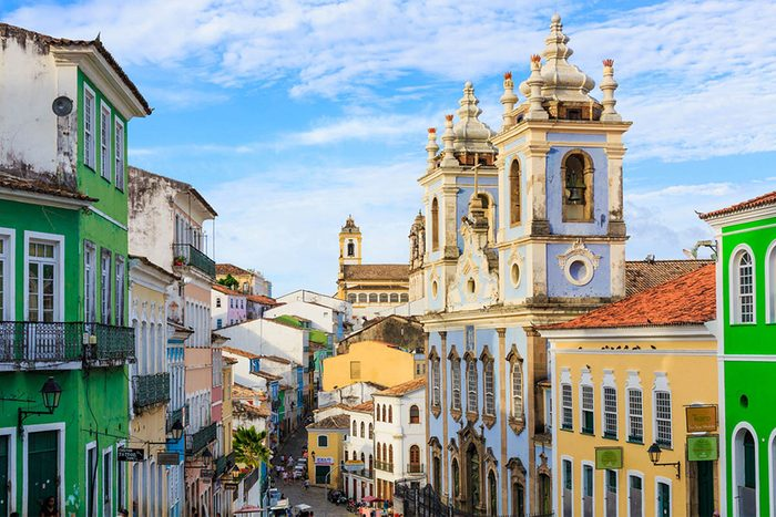 Destination de voyage : Pelourinho au Brésil.