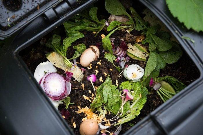 Résolution écologique à adopter : faire du composte.