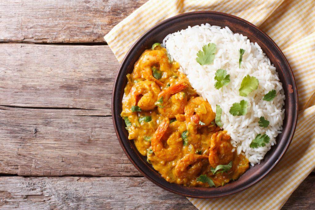 L'énergie est stimulée par les plats indiens.