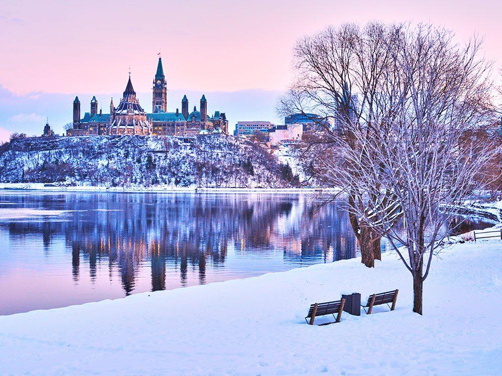 Ottawa n'est pas l'un des endroits les plus froids au Canada.