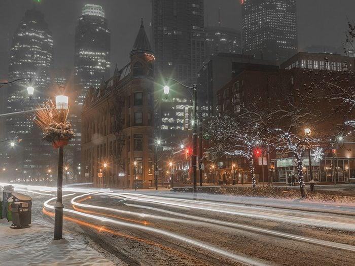 Toronto est l'un des endroits les plus froids au Canada.