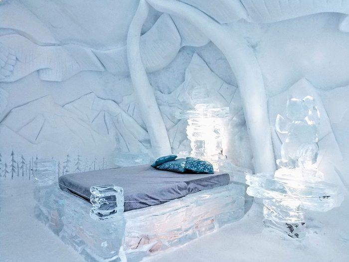 L'Hôtel de Glace est l'un des endroits les plus froids au Canada.