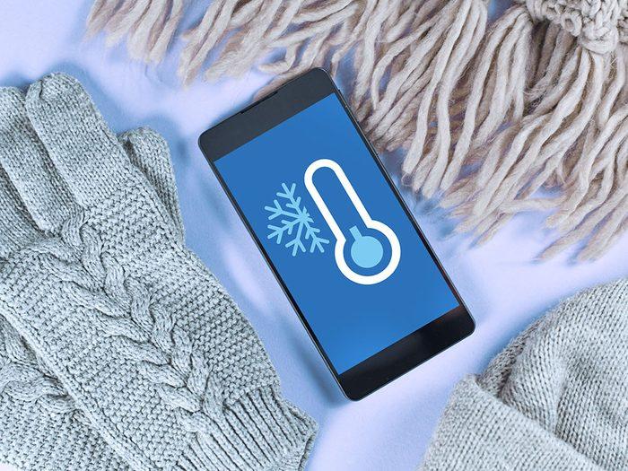Les alertes dans les endroits les plus froids au Canada.