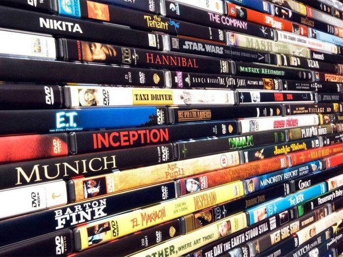Ménage: faites un tri dans vos DVD.