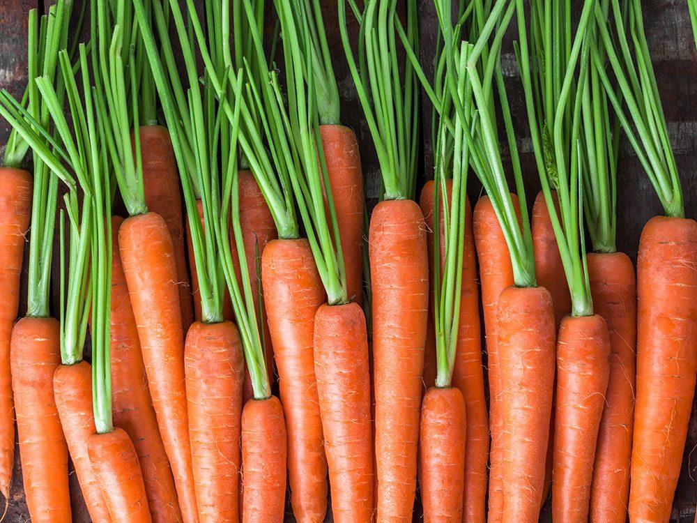 Mythe sur la santé: les carottes améliorent la vue.
