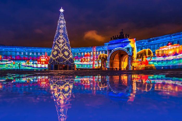 Nouvel an à Saint-Pétersbourg