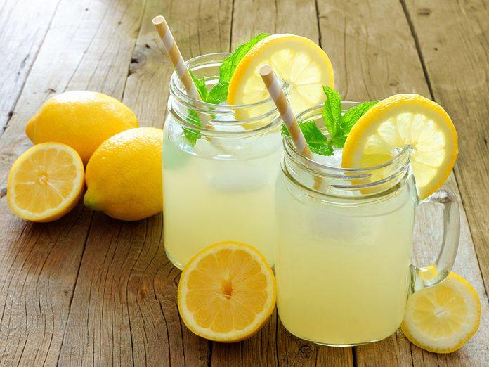 La limonade peut vous faire paraître plus vieux.
