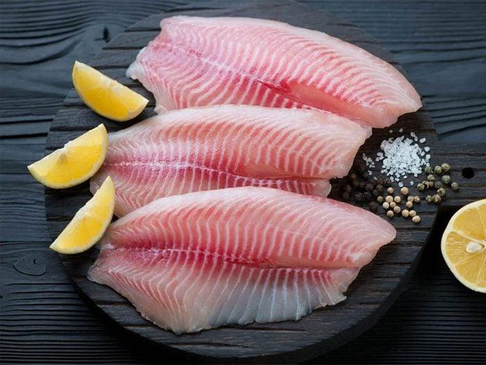 Le Tilapia fait partie des poissons que vous devriez éviter de manger.