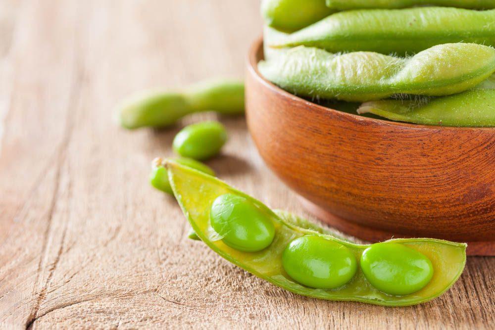 Le potassium est très présent dans les fèves de soya.