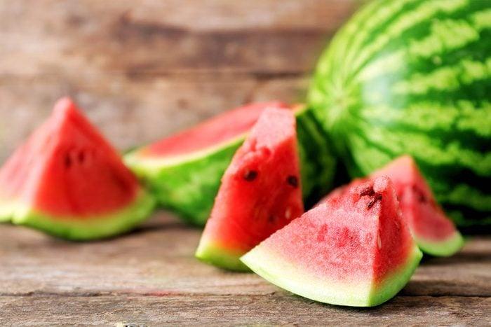 Le potassium est très présent dans le melon d'eau.