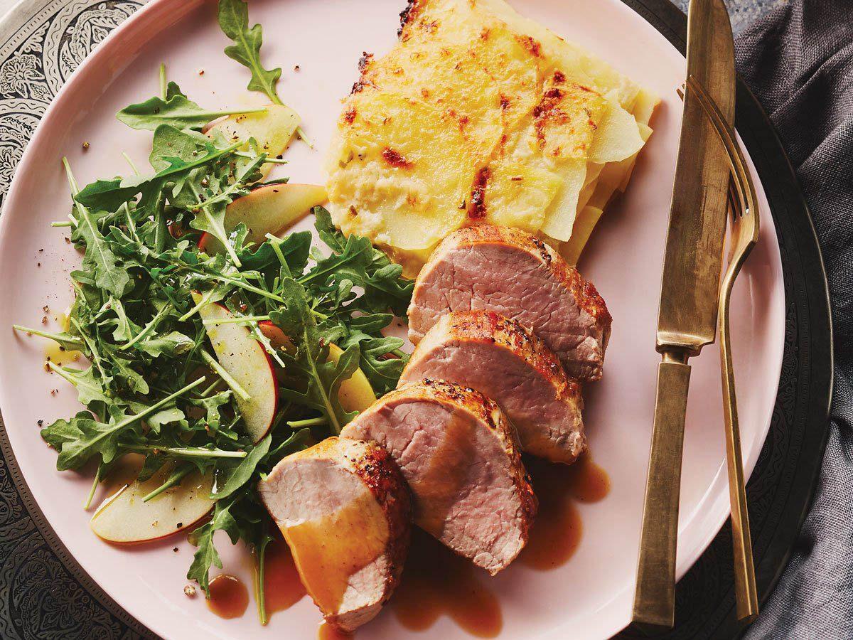 Pour le repas de Noël, préparez un rôti de porc au cidre de pomme.