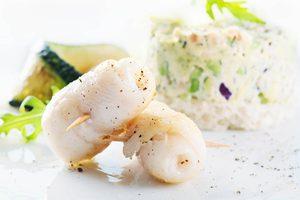 Paupiettes de sole aux crevettes et aux asperges