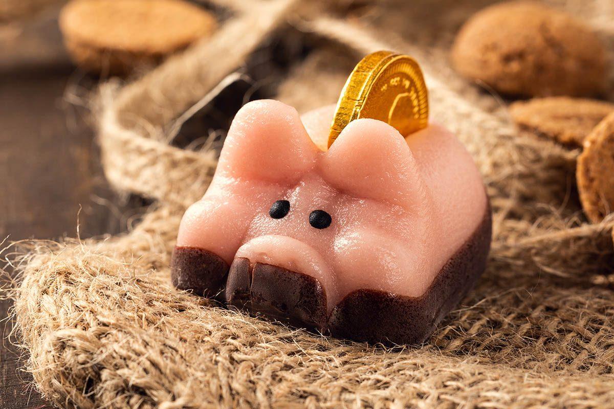 Tradition porte-bonheur en Allemagne : mangez un cochon de sucre.