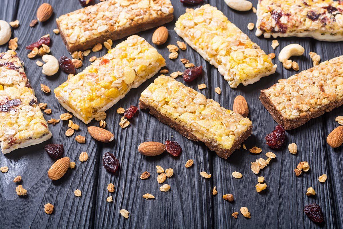 Aliment santé : les barres énergétiques faibles en sucre.