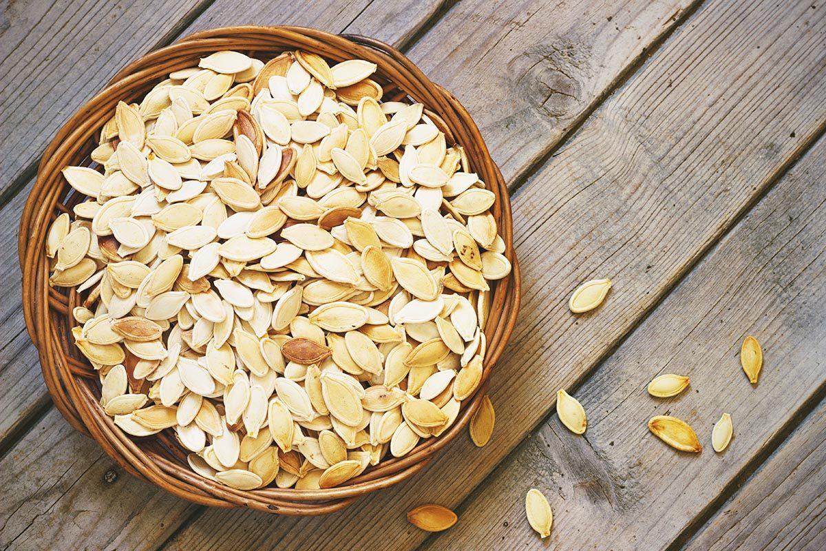 Collation à moins de 100 calories : graines de citrouille