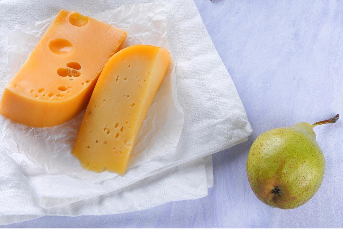Collation à moins de 100 calories : cheddar et poire