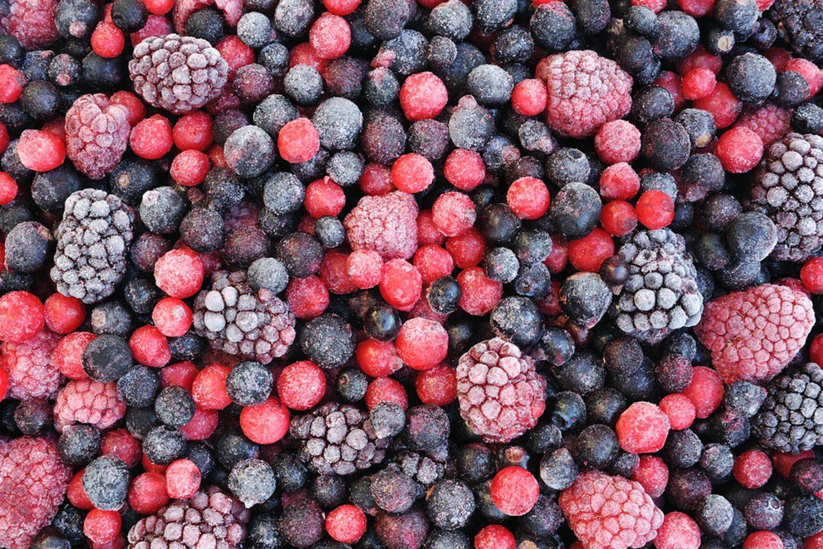 Aliments à ne jamais mettre au mélangeur : des fruits surgelés.