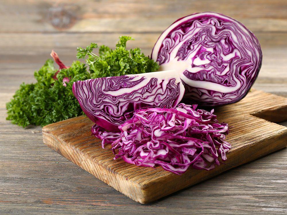 Le chou rouge est l'un des meilleurs aliments santé bons pour le coeur.