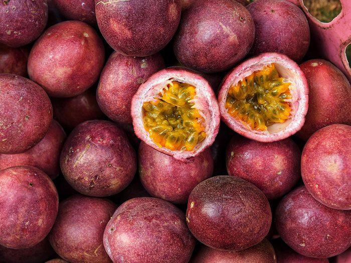 Le fruit de la passion est l'un des meilleurs aliments santé bons pour le coeur.