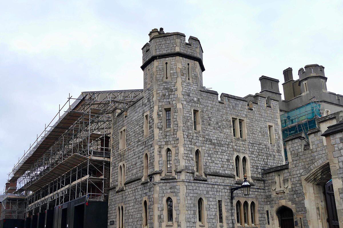 Le château de Windsor a été adapté pendant la guerre.