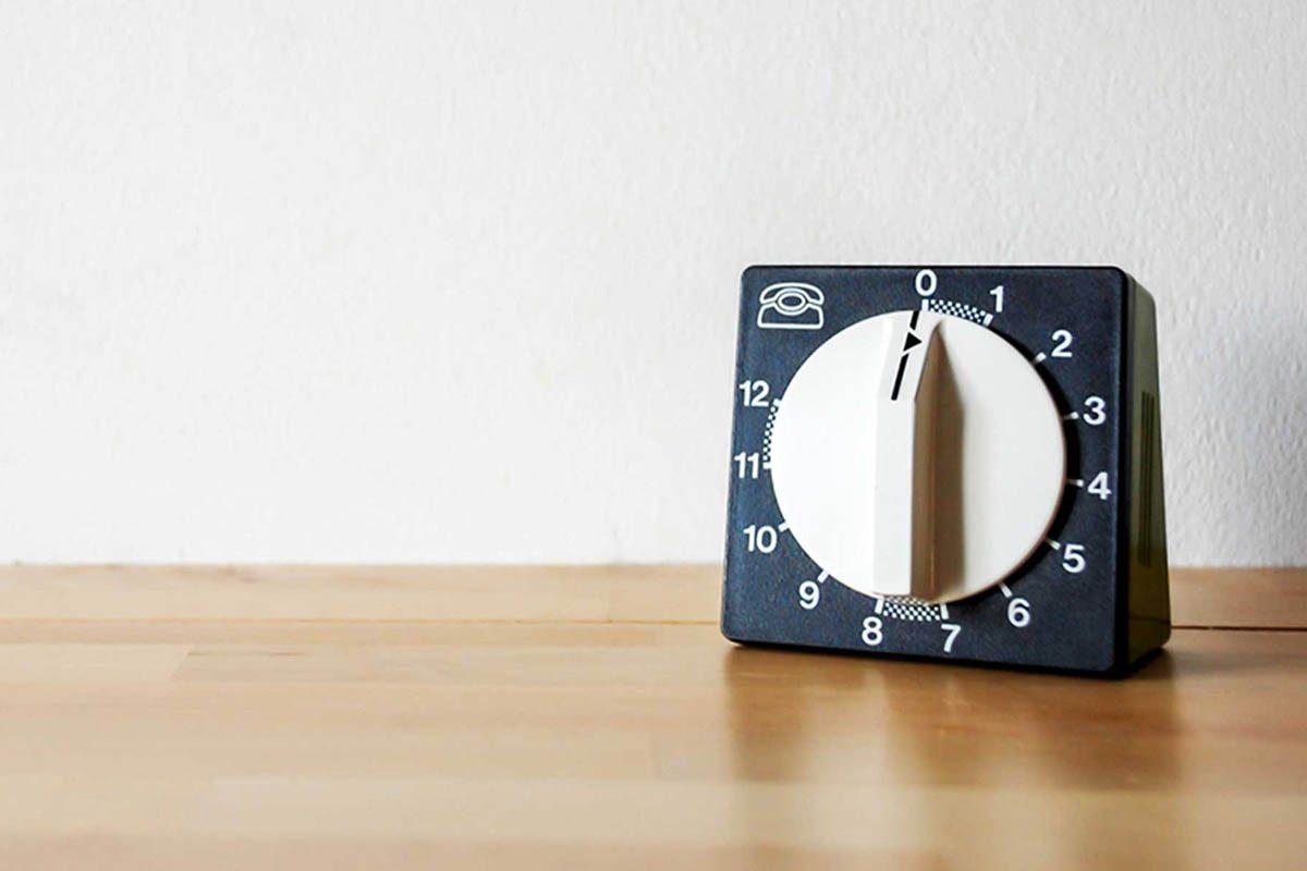 En cuisine, utilisez une minuterie pour vos cuisson.