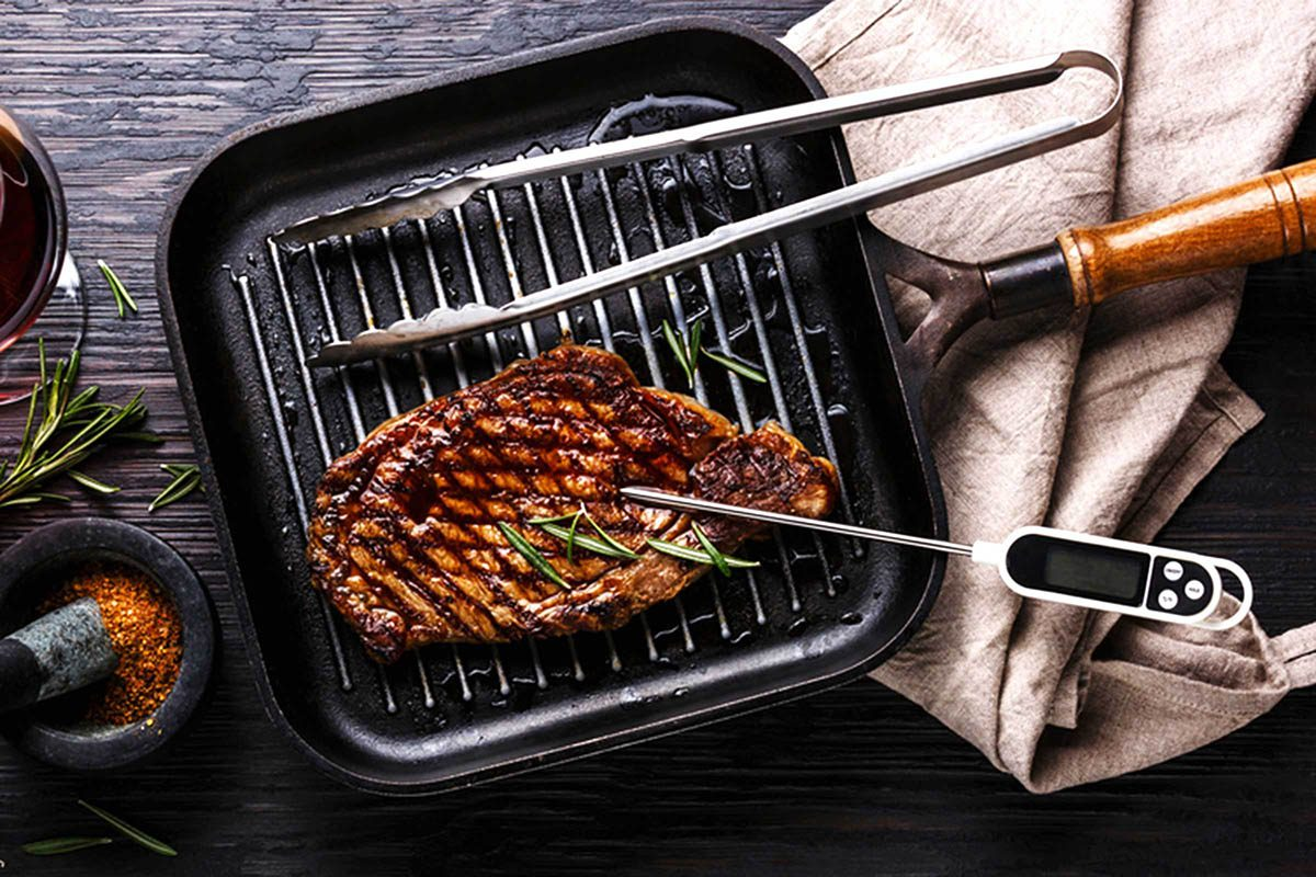 En cuisine, utilisez un thermomètre pour la cuisson de la viande.