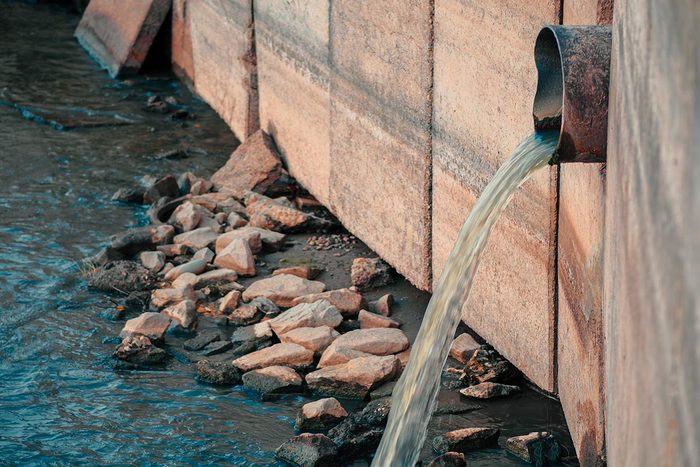 Les déchets contaminent le sol et l'eau.