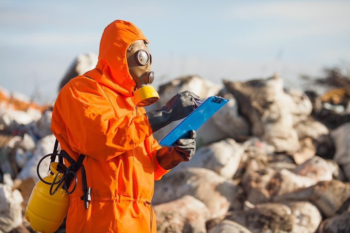 Les déchets produisent des substances chimiques.