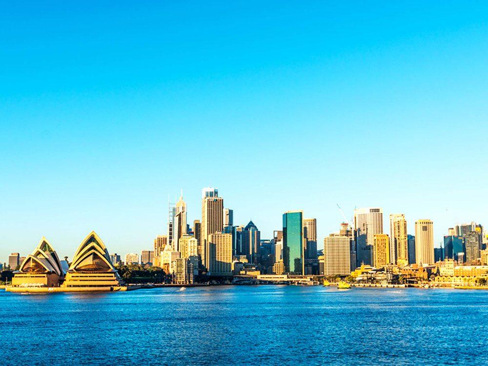 Pensez que Sydney est la capitale de l'Australie est une erreur de géographie.