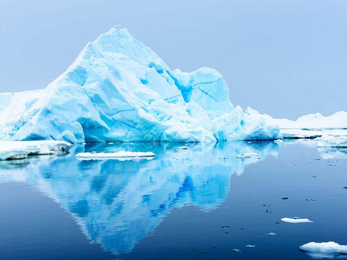 Penser que le pôle Sud est en Antarctique est une erreur de géographie.