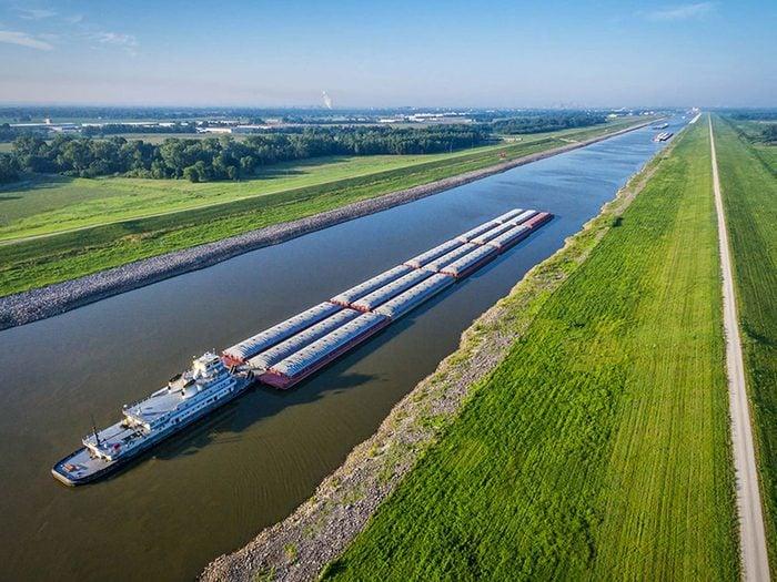 Penser que le fleuve Mississippi est le plus long des États-Unis est une erreur de géographie.